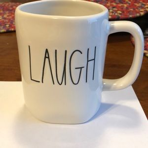 NWOT Rae Dunn LAUGH Coffee Cup